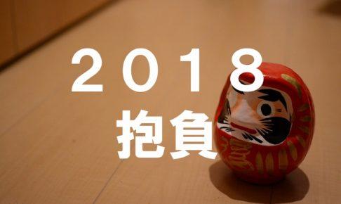 今年の抱負2018ダルマさんの写真