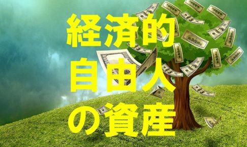 経済的自由人の資産