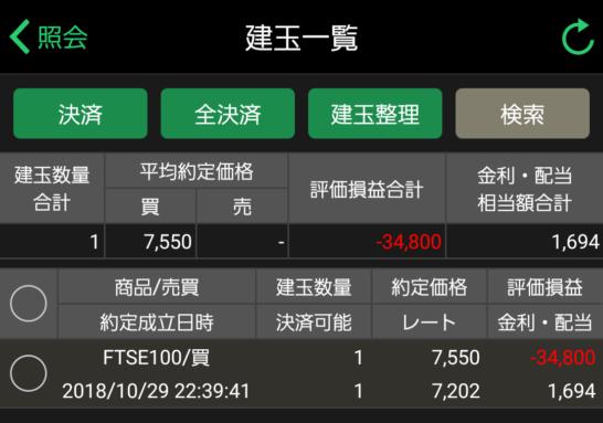 FTSE100口座情報201902
