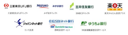 トライオートFXの対応銀行一覧